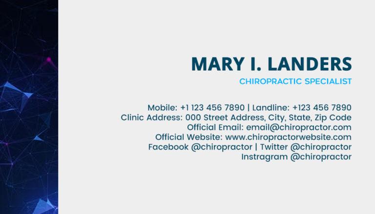 Chiropractic Back 1